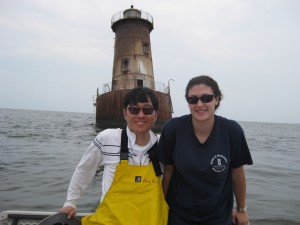 Daniel Lee and Sarah Laperriere during a recent sampling trip.